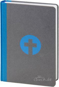 Bibel Schlachter 2000 Taschenausgabe grau/blau