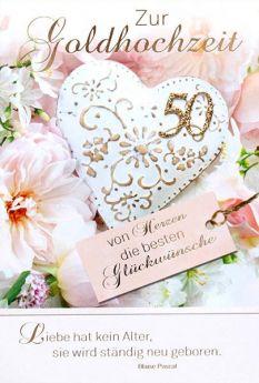 Faltkarte zur Goldhochzeit 50 - Liebe hat kein Alter