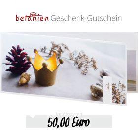 Betanien Geschenk-Gutschein im Wert von 50 Euro (Weihnachts-Karte)
