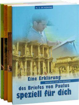 "Paket ""de Koning"" II - Epheser, Philipper, Kolosser, Thessalonicher, Timotheus, Titus, Philemon (Daniel Verlag)"