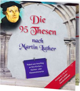 Poster: Die 95 Thesen nach Martin Luther