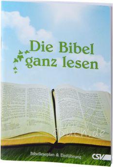 Druse: Die Bibel ganz lesen - Bibelleseplan