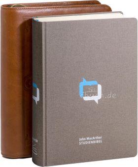 John MacArthur Studienbibel Leinen - mit Bibelhülle Wittenberg (braun)