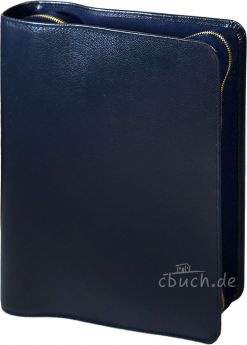 Bibelhülle Rindleder-Smart für Reformations-Studien-Bibel 2017 (blau)
