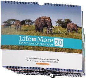 Verteilkalender: Life-is-More Panoramakalender 2020 - 10er-Pack