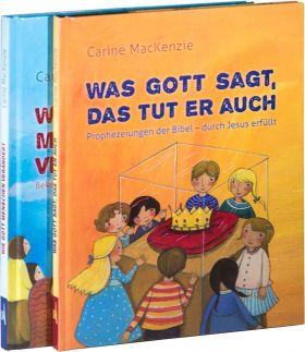 MacKenzie Kinderbücher Paket. Wie Gott Menschen verändert + Was Gott sagt, das tut er auch.