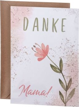 Postkarte – Danke Mama - Mias Schatzkammer