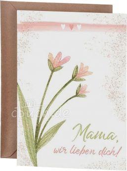 Postkarte – Mama, wir lieben dich! - Mias Schatzkammer