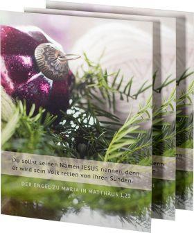 3 Stück Weihnachtspostkarte MATTart Matthäus 1,21