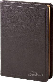 Elberfelder Bibel Edition CSV - Standardbibel, Ziegenleder braun, Rotgoldschnitt